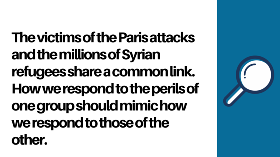 On the Paris Attacks and Syrian Refugees Blog Quote Graphic