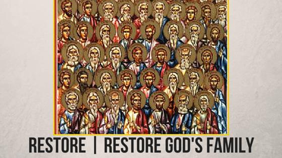 Restore Restore God's Family C.H.E. Sadaphal Blog Promo Graphic #SeekReachRestore