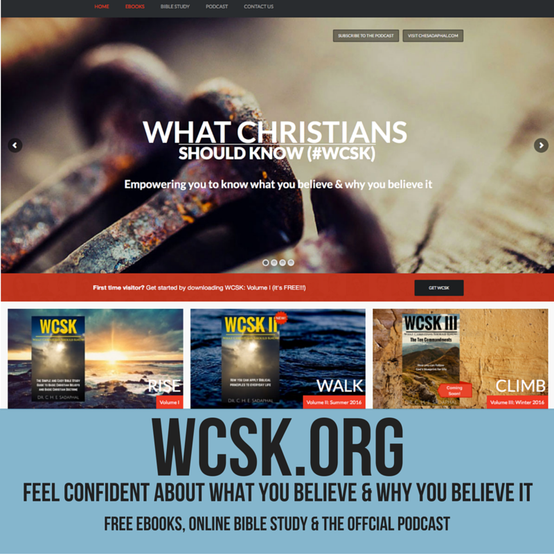#WCSK What Christians Should Know SM Promo