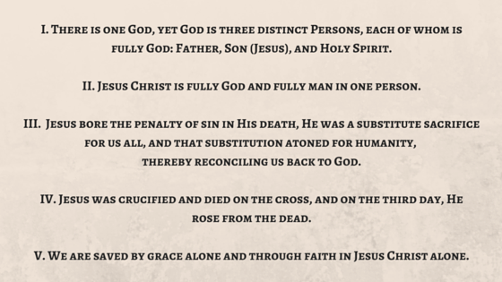 Five Core Doctrines of the Christian Faith God Bible Truth